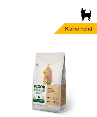Vigor & Sage Ginseng <BR>Well-Being Small Breed <BR>Adult Dog - 2kg