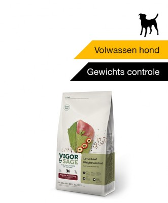 Vigor & Sage Lotus Leaf <BR>Weight Control Regular <BR>Adult Dog - 2 kg